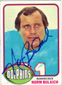 NORM BULAICH AUTOGRAPHED VINTAGE FOOTBALL CARD #110112F