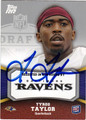 TYROD TAYLOR AUTOGRAPHED ROOKIE FOOTBALL CARD #110112i