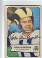 NORM VAN BROCKLIN LOS ANGELES RAMS AUTOGRAPHED VINTAGE FOOTBALL CARD #110113B