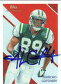 JERRICHO COTCHERY NEW YORK JETS AUTOGRAPHED FOOTBALL CARD #11013A