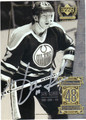 JARI KURRI EDMONTON OILERS AUTOGRAPHED HOCKEY CARD #11013i