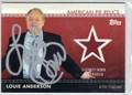 LOUIE ANDERSON AUTOGRAPHED PIECE OF CELEBRITY-WORN MEMORABILIA CARD #110312G