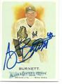 A.J. BURNETT AUTOGRAPHED BASEBALL CARD #110310K