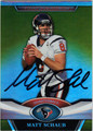 MATT SCHAUB AUTOGRAPHED FOOTBALL CARD #110512J