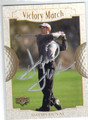 DAVID DUVAL AUTOGRAPHED GOLF CARD #110612D