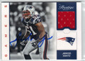 JEROD MAYO AUTOGRAPHED PIECE OF THE GAME FOOTBALL CARD #110712A