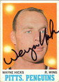 WAYNE HICKS AUTOGRAPHED VINTAGE HOCKEY CARD #110512i