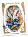 BRIAN CUSHING AUTOGRAPHED FOOTBALL CARD #110610B