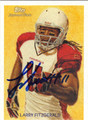 LARRY FITZGERALD AUTOGRAPHED FOOTBALL CARD #111012i