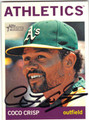 COCO CRISP OAKLAND ATHLETICS AUTOGRAPHED BASEBALL CARD #111013F
