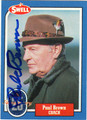 PAUL BROWN AUTOGRAPHED FOOTBALL CARD #11112A