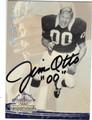 JIM OTTO OAKLAND RAIDERS AUTOGRAPHED FOOTBALL CARD #11113B