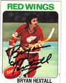 BRYAN HEXTALL DETROIT RED WINGS AUTOGRAPHED VINTAGE HOCKEY CARD #11113H