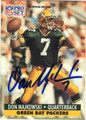 DON MAJKOWSKI GREEN BAY PACKERS AUTOGRAPHED FOOTBALL CARD #11113M