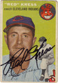 "RALPH ""RED"" KRESS AUTOGRAPHED VINTAGE BASEBALL CARD #111212Q"