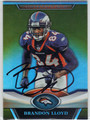 BRANDON LLOYD AUTOGRAPHED FOOTBALL CARD #111312B
