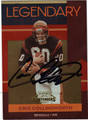 CRIS COLLINSWORTH AUTOGRAPHED & NUMBERED FOOTBALL CARD #111412D