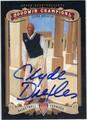 CLYDE DREXLER AUTOGRAPHED BASKETBALL CARD #111512B