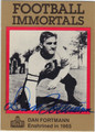 DAN FORTMANN CHICAGO BEARS AUTOGRAPHED FOOTBALL CARD #111512L