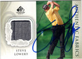 STEVE LOWERY AUTOGRAPHED PIECE OF THE GAME GOLF CARD #111512M