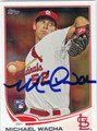 MICHAEL WACHA ST LOUIS CARDINALS AUTOGRAPHED ROOKIE BASEBALL CARD #111513D