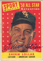 SHERM LOLLAR CHICAGO WHITE SOX AUTOGRAPHED VINTAGE BASEBALL CARD #111513G