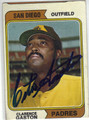 CLARENCE GASTON SAN DIEGO PADRES AUTOGRAPHED VINTAGE BASEBALL CARD #111413F