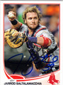 JARROD SALTALAMACCHIA BOSTON RED SOX AUTOGRAPHED BASEBALL CARD #111613E