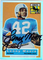 LENNY MOORE BALTIMORE COLTS AUTOGRAPHED FOOTBALL CARD #111613G