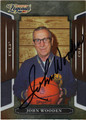 JOHN WOODEN AUTOGRAPHED BASKETBALL CARD #111712H