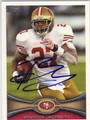 BRANDON JACOBS SAN FRANCISCO 49ers AUTOGRAPHED FOOTBALL CARD #111713C