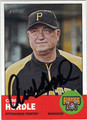 CLINT HURDLE PITTSBURGH PIRATES AUTOGRAPHED BASEBALL CARD #111813H