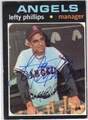 LEFTY PHILLIPS CALIFORNIA ANGELS AUTOGRAPHED VINTAGE BASEBALL CARD #111813J