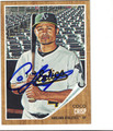 COCO CRISP OAKLAND ATHLETICS AUTOGRAPHED BASEBALL CARD #111813K