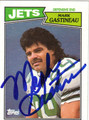 MARK GASTINEAU AUTOGRAPHED VINTAGE FOOTBALL CARD #112111i