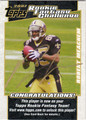 ROBERT MEACHEM AUTOGRAPHED ROOKIE FOOTBALL CARD #112111N