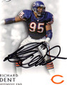 RICHARD DENT AUTOGRAPHED FOOTBALL CARD #112111S
