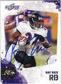 RAY RICE AUTOGRAPHED FOOTBALL CARD #112011F