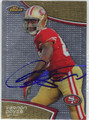 VERNON DAVIS SAN FRANCISCO 49ers AUTOGRAPHED FOOTBALL CARD #112013A