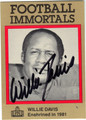 WILLIE DAVIS AUTOGRAPHED FOOTBALL CARD #112012A