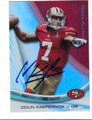 COLIN KAEPERNICK SAN FRANCISCO 49ers AUTOGRAPHED FOOTBALL CARD #112013B