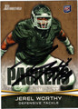 JEREL WORTHY GREEN BAY PACKERS AUTOGRAPHED ROOKIE FOOTBALL CARD #11213D