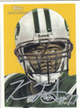 KRIS JENKINS NEW YORK JETS AUTOGRAPHED FOOTBALL CARD #11213G