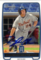 TYLER COLLINS AUTOGRAPHED ROOKIE BASEBALL CARD #112212B