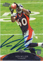VON MILLER AUTOGRAPHED ROOKIE FOOTBALL CARD #112112J
