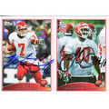 MATT CASSEL & JAVARRIS WILLIAMS AUTOGRAPHED FOOTBALL CARDS #112310J