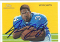 KEVIN SMITH AUTOGRAPHED FOOTBALL CARD #112311J