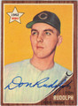 DON RUDOLPH AUTOGRAPHED VINTAGE BASEBALL CARD #112312D