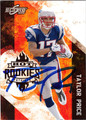 TAYLOR PRICE AUTOGRAPHED ROOKIE FOOTBALL CARD #112411H