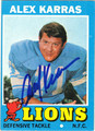 ALEX KARRAS AUTOGRAPHED VINTAGE FOOTBALL CARD #112412C
